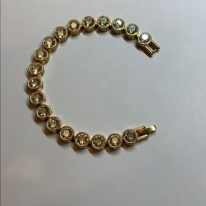Swarovski Touchstone crystal golden ice bracelet